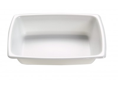 Side Dish Disposable Rectangular, High Heat, White (1000 per case) - A07A