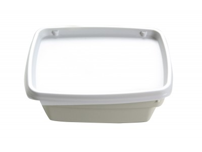Bowl Disposable Rectangular, High Heat, White (1000 per case) - B19