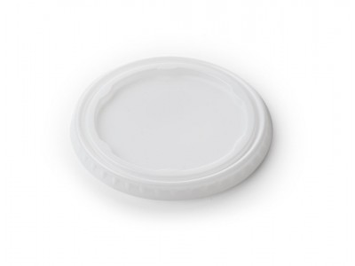 Lid Disposable Round Non-Vented, White (4000 per case) - B38A