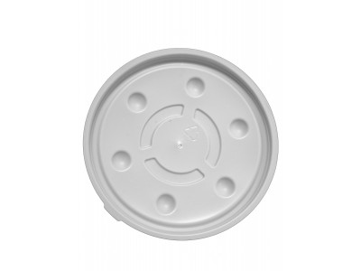 Lid Disposable Round Vented High Heat, Ivory (1000 per case) - B97S