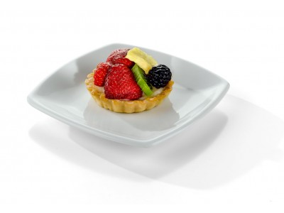 "TOP SELLER! Side Dish China Square 61/8""  Dessert, Presentation®  Design, White (36 per case) - J102"