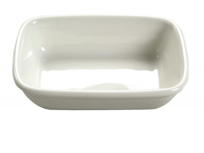 Bowl Ceramic Rectangular, Ivory (72 per case) - J32