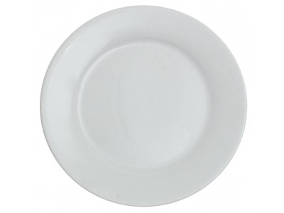"TOP SELLER! Entree Dish China Round 9"", Bright White (24 per case) - J700"