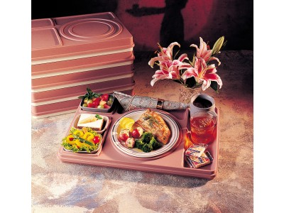 Cover for Bravo Insulated Tray, Mauve/Ivory (10 per case) - T519P