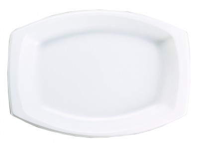Entree Dish Disposable Rectangular, White (500 per case) - A32