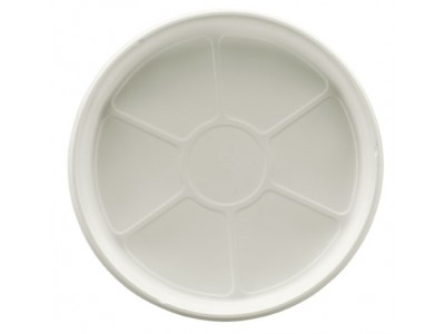 "Entree Dish Disposable Round 7 3/4"" High Heat, White (500 per case) - A43S"