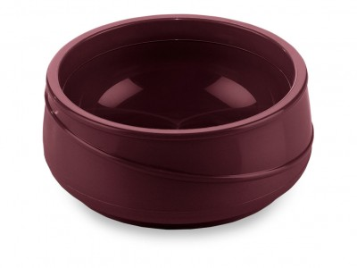 Allure® 8-oz Round Insulated Bowl, Burgundy (48 per case) - ALB250