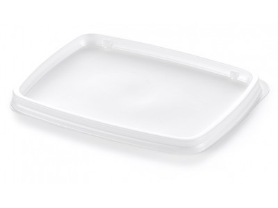 Lid Disposable Rectangular Non-Vented, White (3000 per case) - B21A