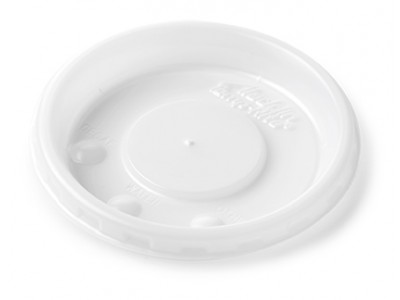 Lid Disposable Round Vented, White (2000 per case) - B42