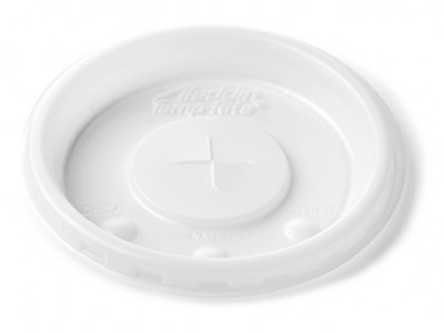 Lid Disposable Round Slotted with Indicators, White (2000 per case) - B44