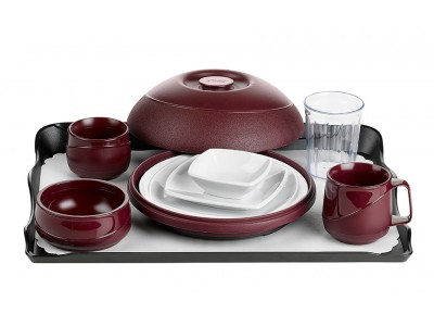 Allure® Burgundy Tray Setting