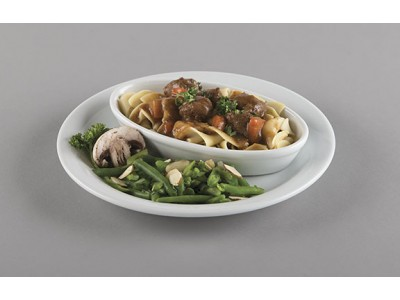 "NEW! 9"" NARROW RIM Bright White Ceramic Entrée Plate  (24 per case) - D900"