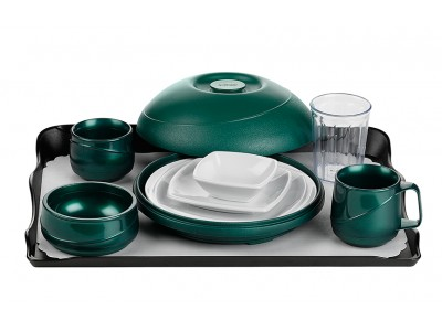 Allure® Harvest Green Tray Setting