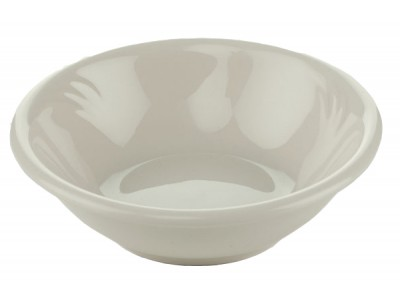 Bowl China Round 6 oz Fruit, White Embossed Design (36 per case) - J349