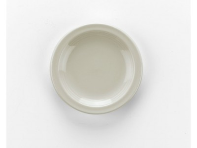 "Side Dish Ceramic Round 4"" Bread, Ivory (36 per case) -  J439"