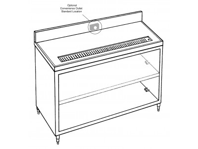 "Beverage Counter, 60"" Length - J611"