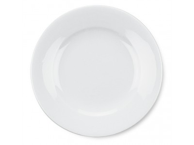 "Entree Dish China Round 7 1/8"", Bright White (36 per case) - J704"