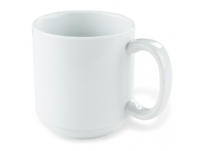 Mug Bright White China 10 oz, White (36 per case) - J708