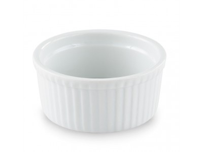 Bowl China Ramekin 5 oz Fluted, Bright White (36 per case) - J709