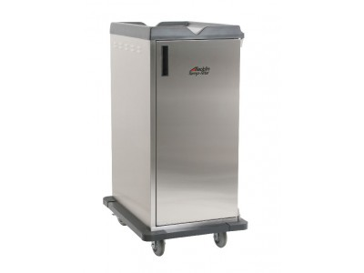"Premium Meal Delivery Cart, 10 Tray Capacity, Side Load, Single Door, 4.5"" Spacing"