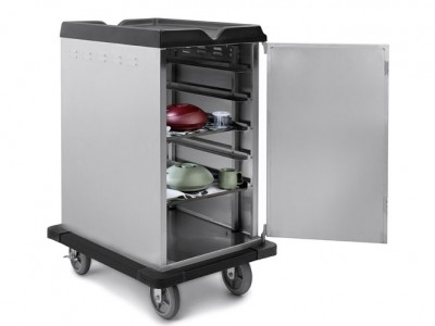 Premium Room Service Cart 10 Tray Capacity Side Load