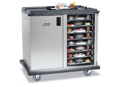 "Premium Meal Delivery Cart, 32 Tray Capacity, Side Load Double Door, 4.5"" Spacing"