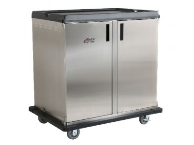 "Premium Meal Delivery Cart, 36 Tray Capacity, Side Load Double Door. 4.5"" Spacing"