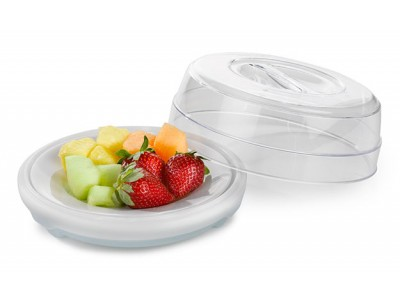 "Dome 7 3/4"" Entree Cold Only, Clear (12 per case) - T730"