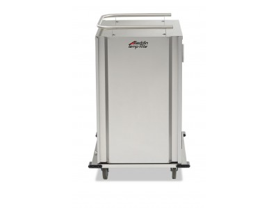 "NEW! Low-Profile Stainless-Steel Room Service Cart, 10-Tray Capacity, 5.25"" Tray Spacing with Upgrade Package - SC10S-525DPR"