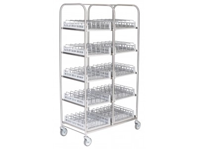 Storage Rack for bases, domes or insulated trays including 10 Wash Racks - SR100