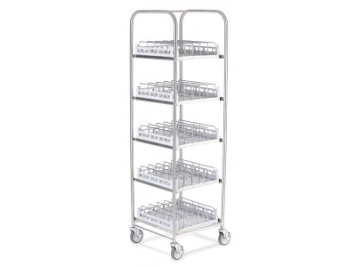 Storage Rack for bases, domes or insulated trays including 5 Wash Racks - SR50