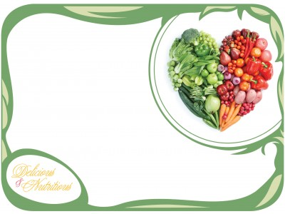 "NEW! 15"" x 20"" Delicious & Nutritious Tray Cover (1,000 per case) - TCA35"