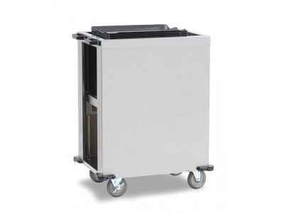 Self Leveling Tray Dispenser, Single Well for Room Service, Heat On Demand On Tray®  & Cafeteria Trays - TDS150