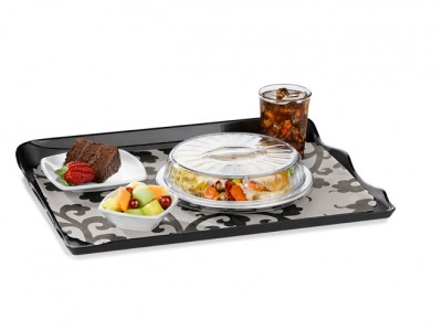 """Dome Dimensions® 9"""" Entree Cold Only, Clear (48 per case) - DMCD100"""