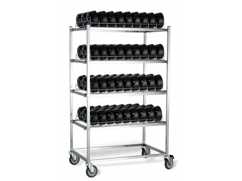 dome storage caddy and racks