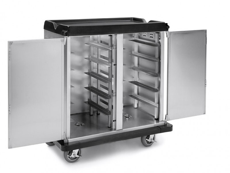 Room Service Cart 10 Tray Capacity End Load Double Door