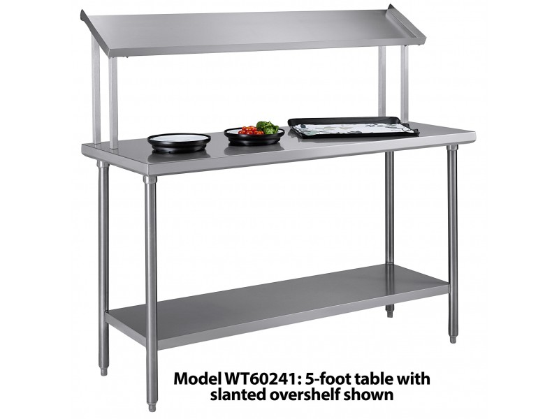Tray Assembly Table X Stainless Steel With Slanted Over - 5 ft stainless steel table