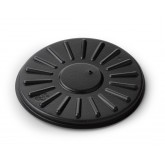 Lid Disposable Round Vented High Heat, Black (500 per case) - B95B