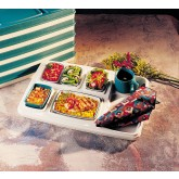 Cover for Skandia Insulated Tray Full, Teal/Ivory (10 per case) - T583P