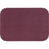 "15"" x 20"" Burgundy Linen Tray Cover (1,000 per case) - TCA92"
