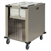 Self Leveling Tray Dispenser, Double Well for Room Service, Heat On Demand On Tray®  & Cafeteria Trays - TDD150