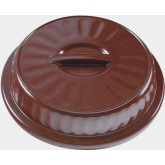 "Dome Dimensions® 8"" Entree High Heat, Burgundy (48 per case) - DM102B"
