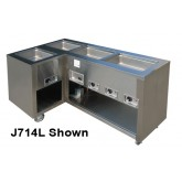 J714 Series Slim Line Hot Food Counters, 2 - 4 Wells