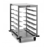 Denesting Cart, 12 capacity, Stainless Steel - L03S