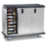 "Premium Meal Delivery Cart, 24 Tray Capacity, End Load Triple Door, 4.5"" Spacing"