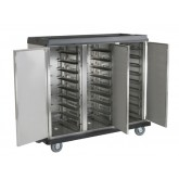 "Pellet Cart, 27 Tray Capacity, End Load Triple Door, 4.5"" Spacing"