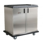"Premium Meal Delivery Cart, 28 Tray Capacity, Side Load, Double Door, 4.5"" Spacing"