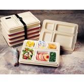 Server Genie Insulated Tray, Cream/Cream (10 per case) - S565P