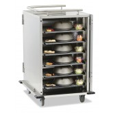 "12-Tray Stainless-Steel Room Service Cart, Low-Profile, 5.25"" Tray Spacing with Upgrade Package - SC12S-525DPR"