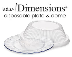 New! Dimensions® Disposable Plate and Dome